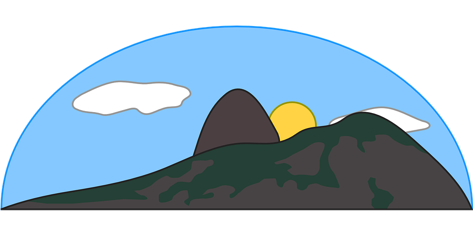 Clipart rock cartoon. Hills mountain slope frames