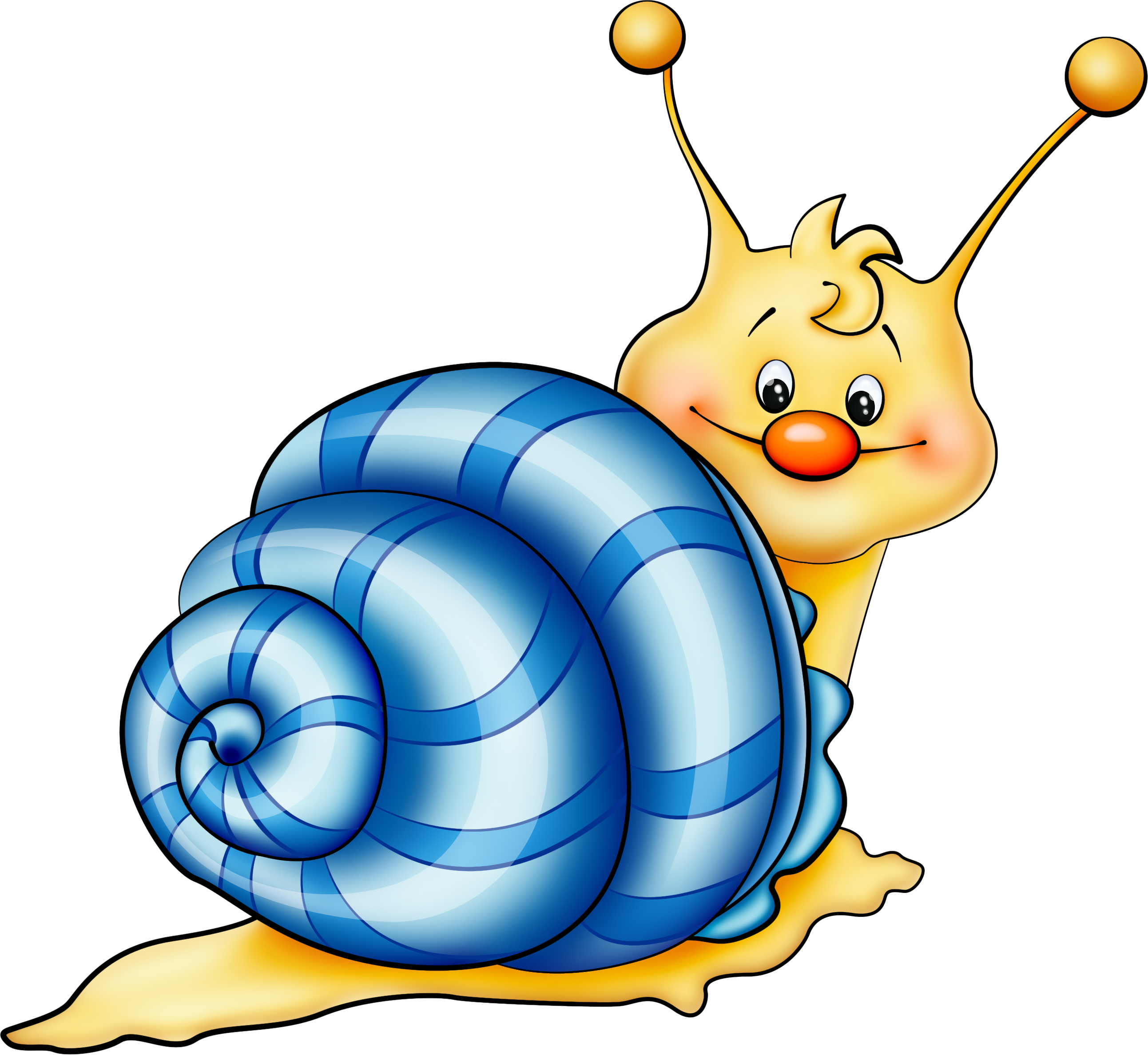Clipart rock cartoon. Blue snail png picture