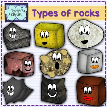 Science cute types of. Clipart rock character