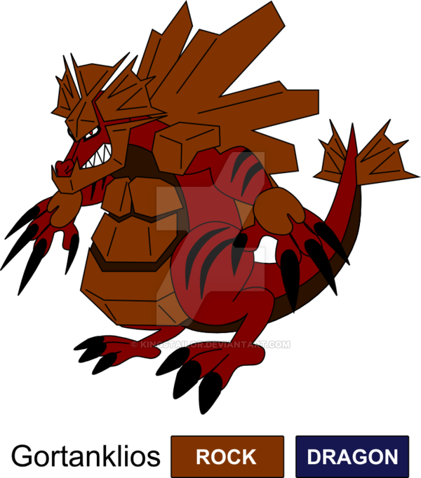 Clipart rock character. Dragon fossil legendary fakemon
