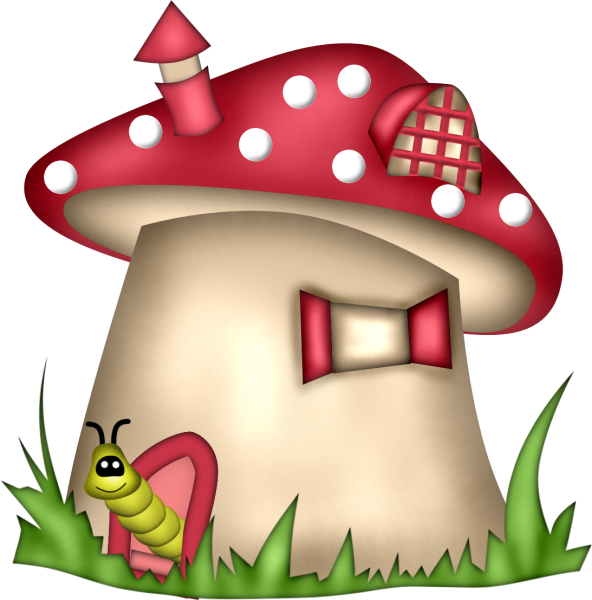 Scrapkit bugs and co. Mushrooms clipart cute sun cartoon