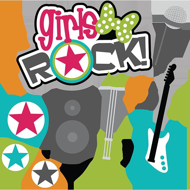 Clipart rock cute. Girls svg scrapbook collection