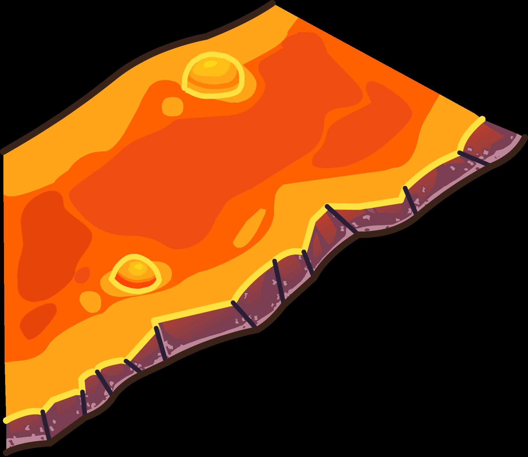 Image lava flow sprite. Clipart rock file