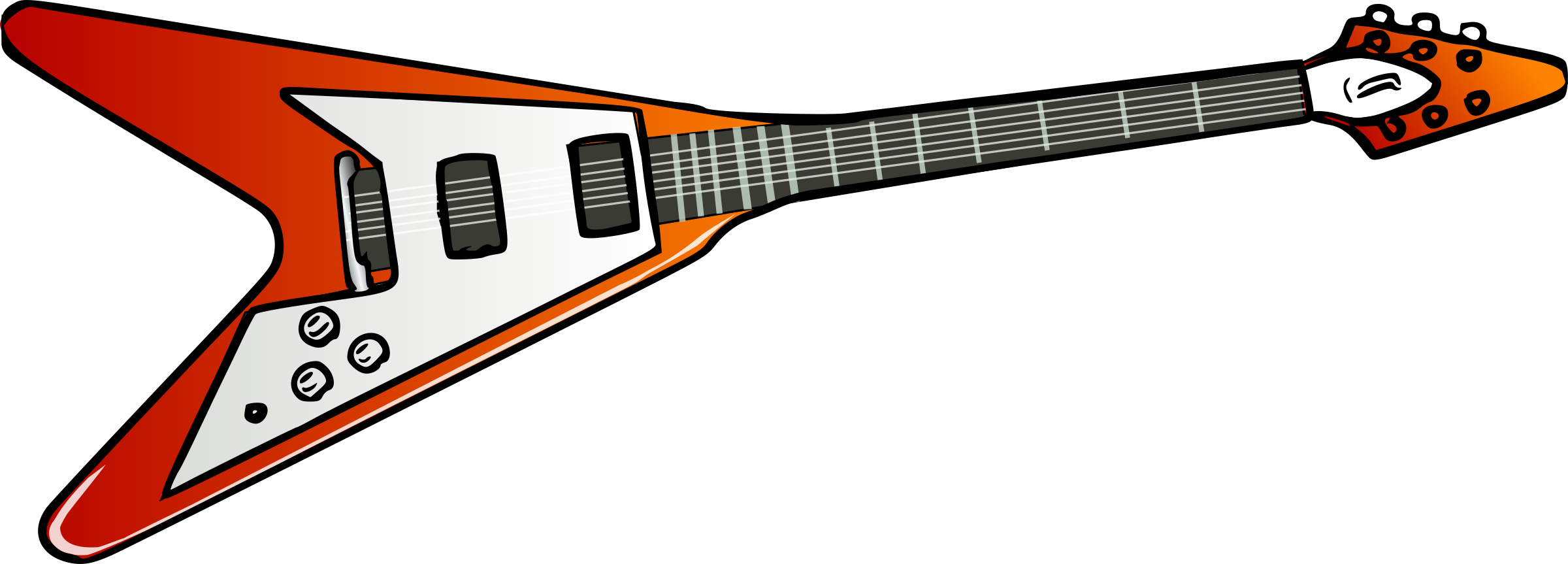 Electric clipart animated. Flying v guitar big