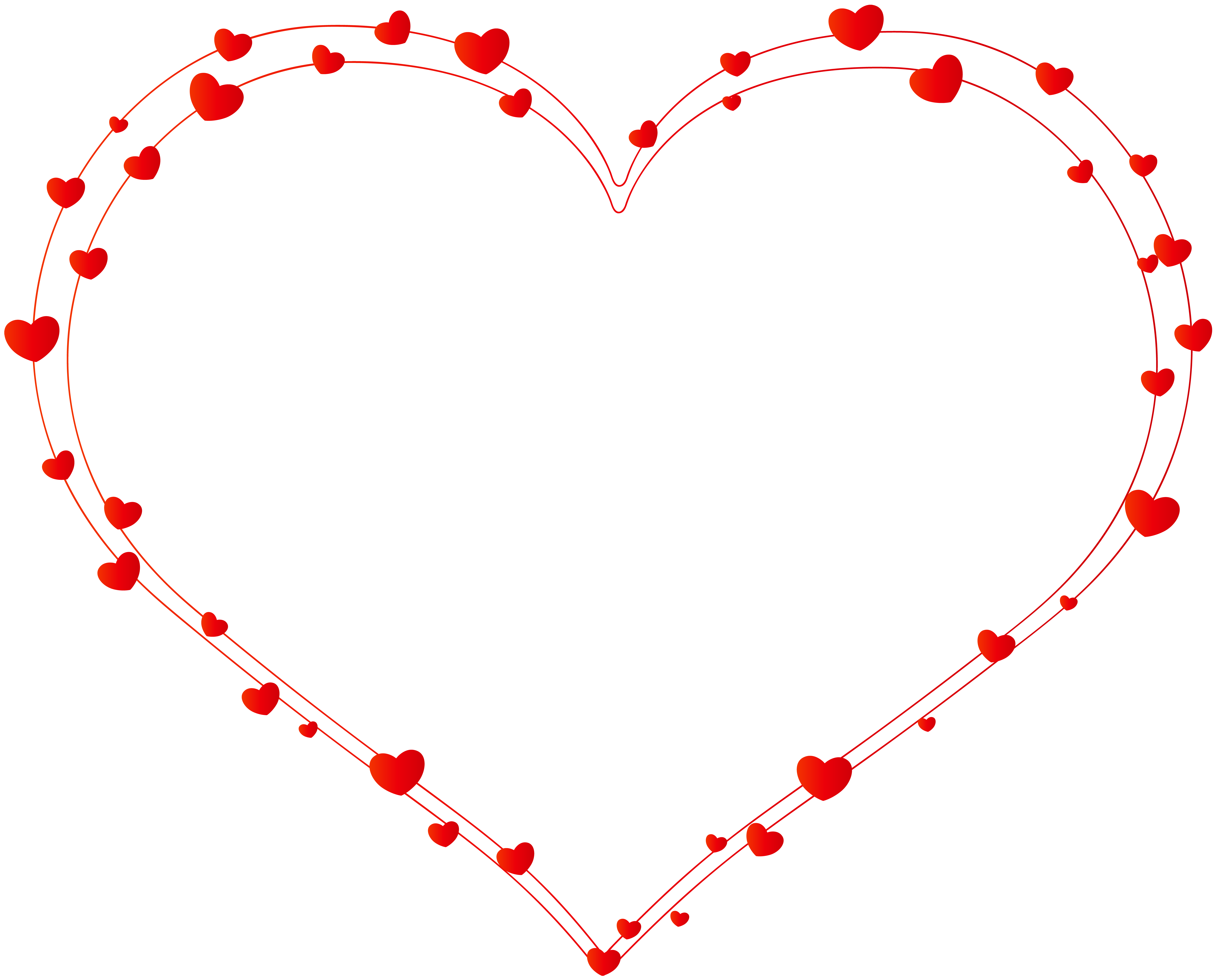 Line of hearts png. Deco heart transparent clip