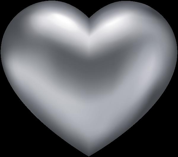Silver transparent png clip. Clipart rock heart