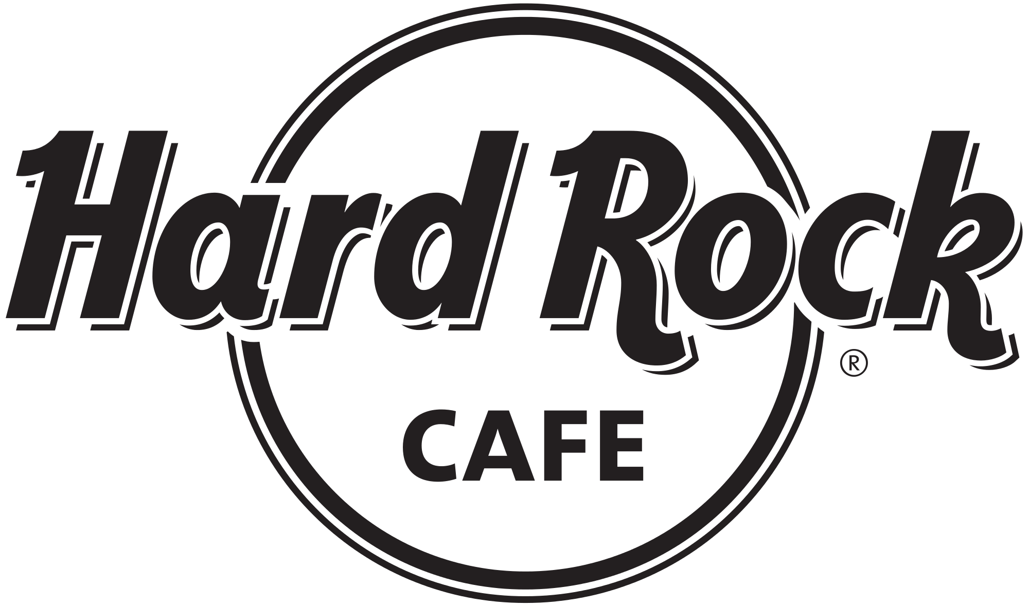 Rock clipart black and white. Hard caf logo transparent