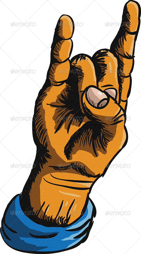 Clipart rock heavy rock. And metal hand sign