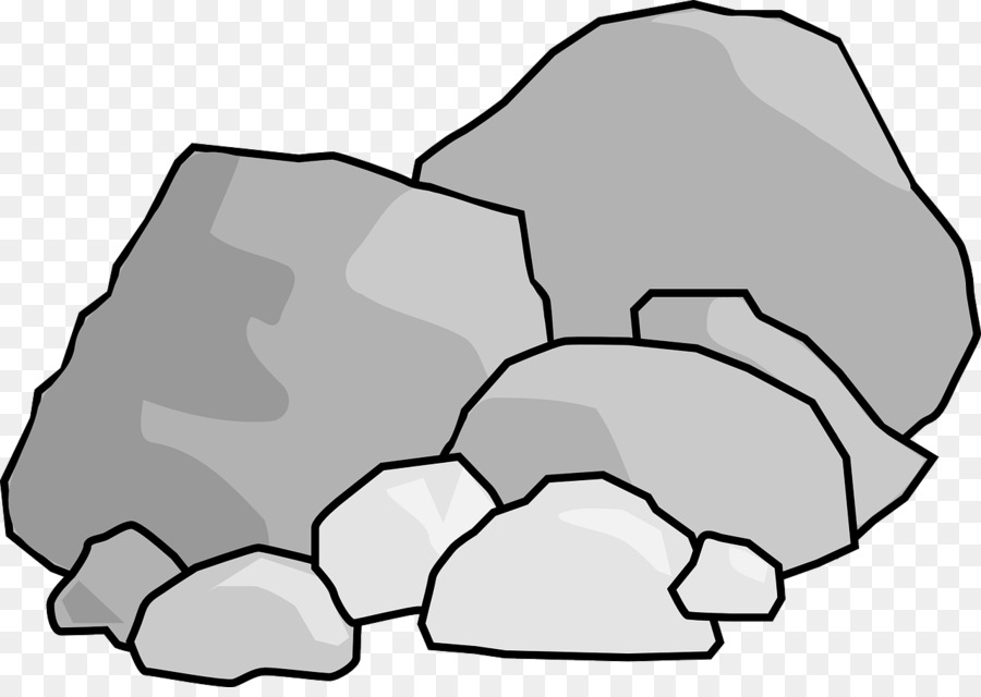 Clipart rock line art. Black background hand transparent