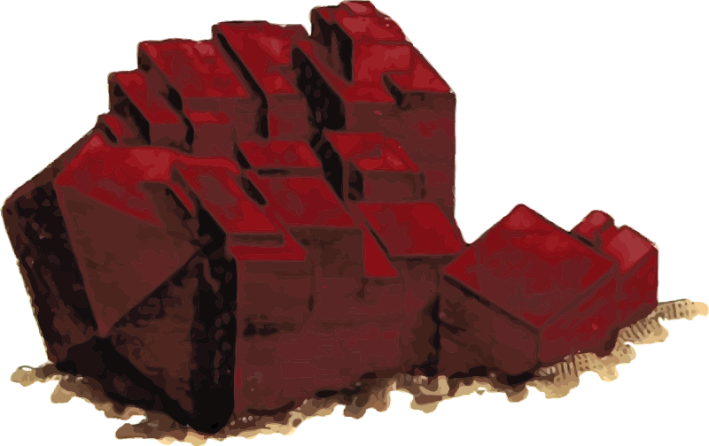 Clipart rock mineralogist. Red copper oxide medium