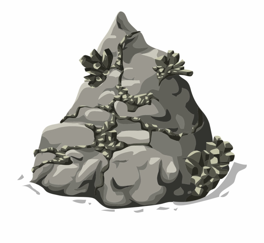 Rocks mountain stone png. Clipart rock nature