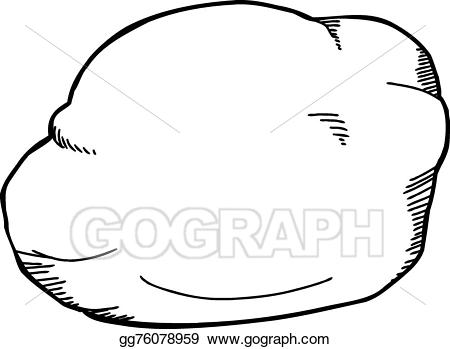 Vector illustration perlite eps. Clipart rock outline