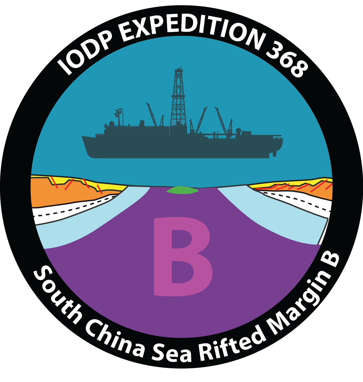 South china sea rifted. Clipart rock physical property