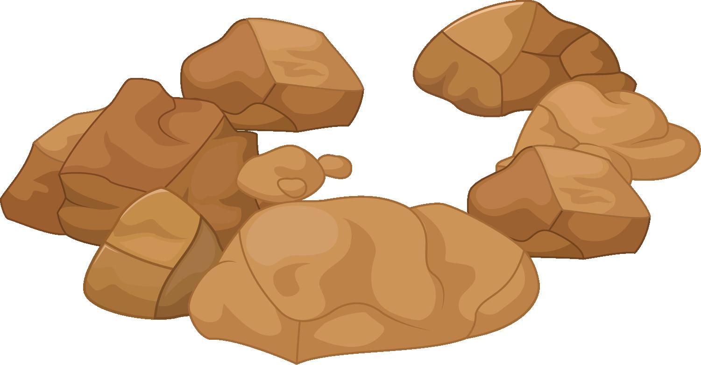 Stone cartoon a of. Clipart rock pile rock