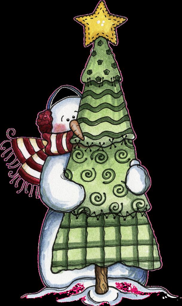Clipart rock printable.  christmas snowman and