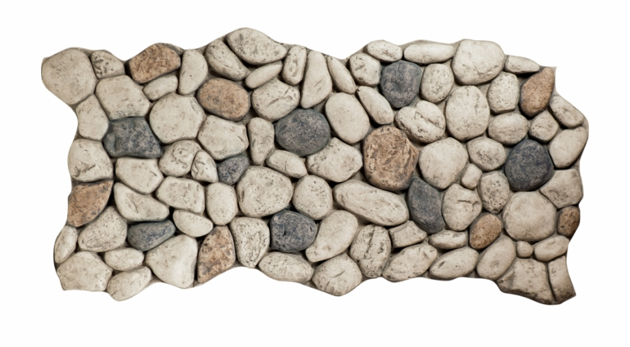 Rock clipart river rock. Gray stone top view
