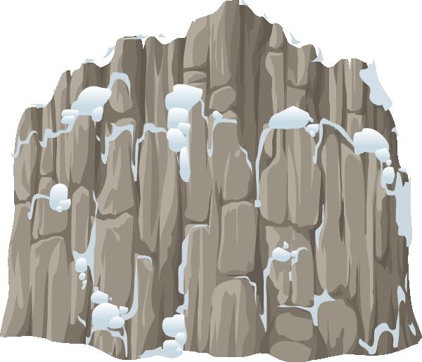 Alpine landscape snow clifface. Clipart rock rock cliff
