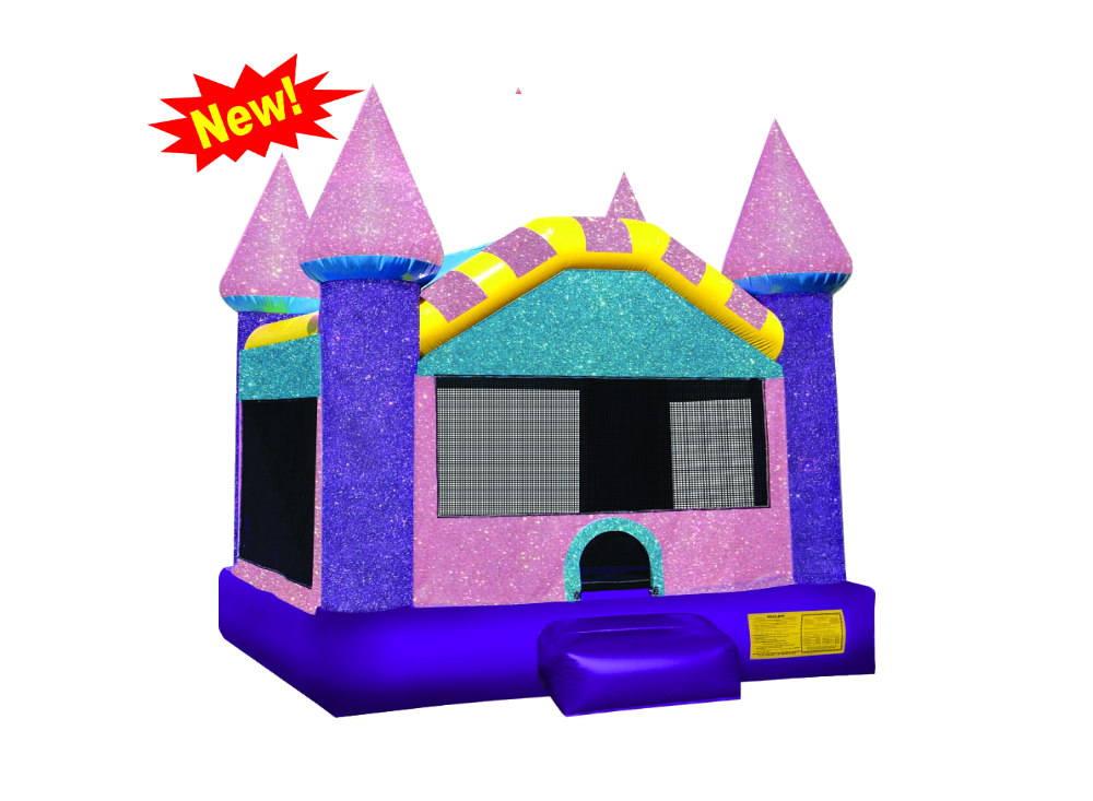Bounce the dazzling castle. Clipart rock rock slide