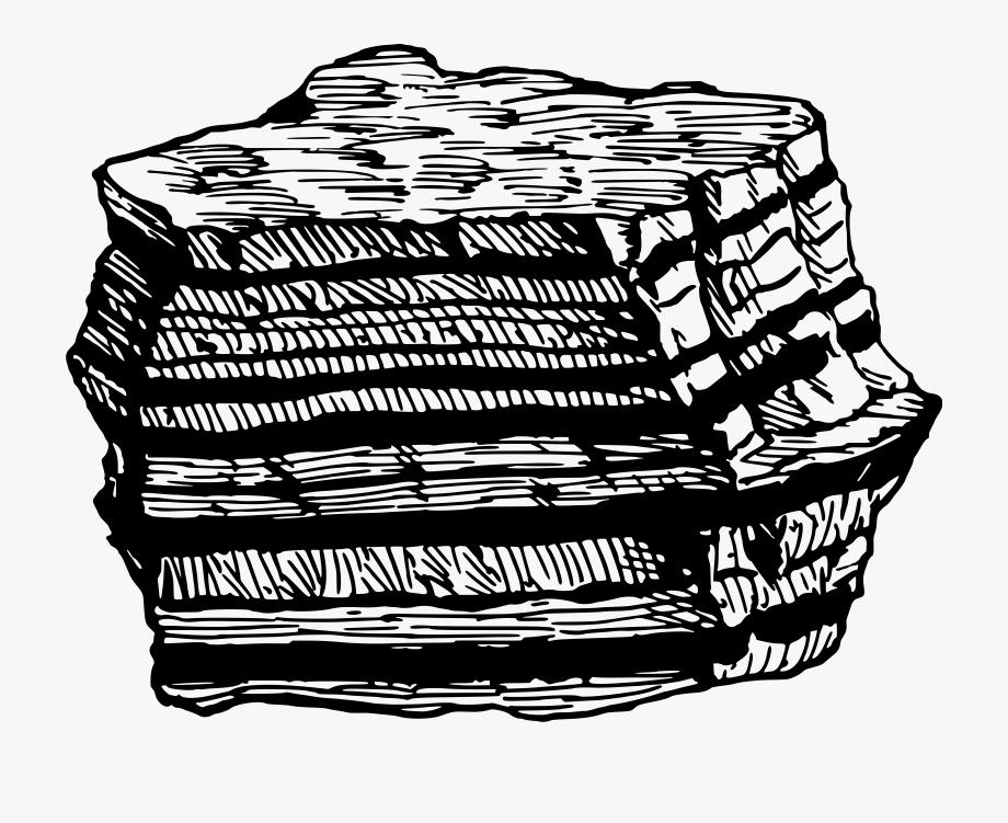 Clipart rock sedimentary rock. Metamorphic drawings of