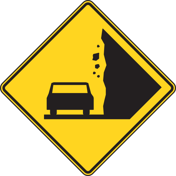 Falling rocks clip art. Clipart rock sign