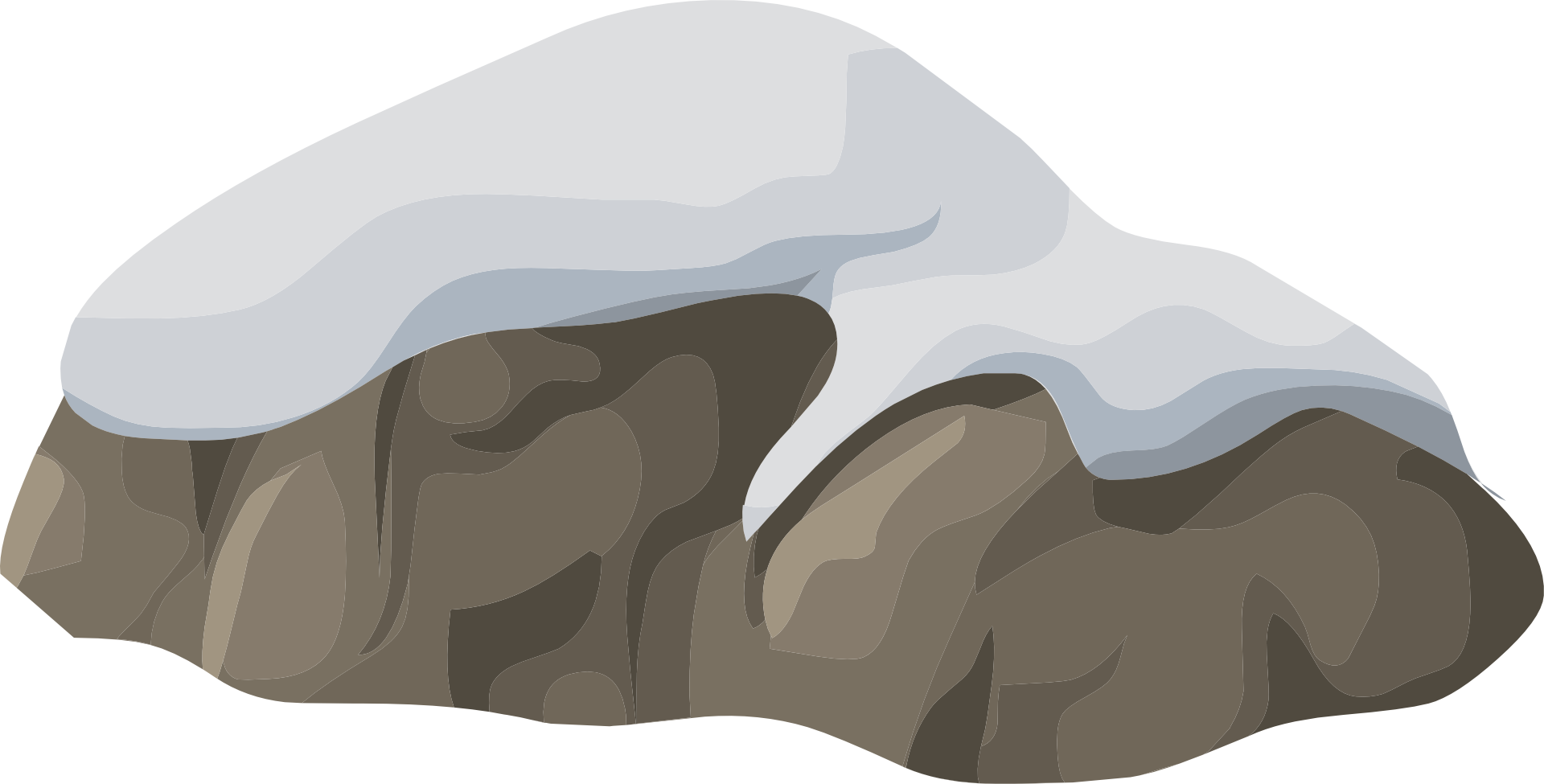 Snow covered wisc online. Clipart rock sketch