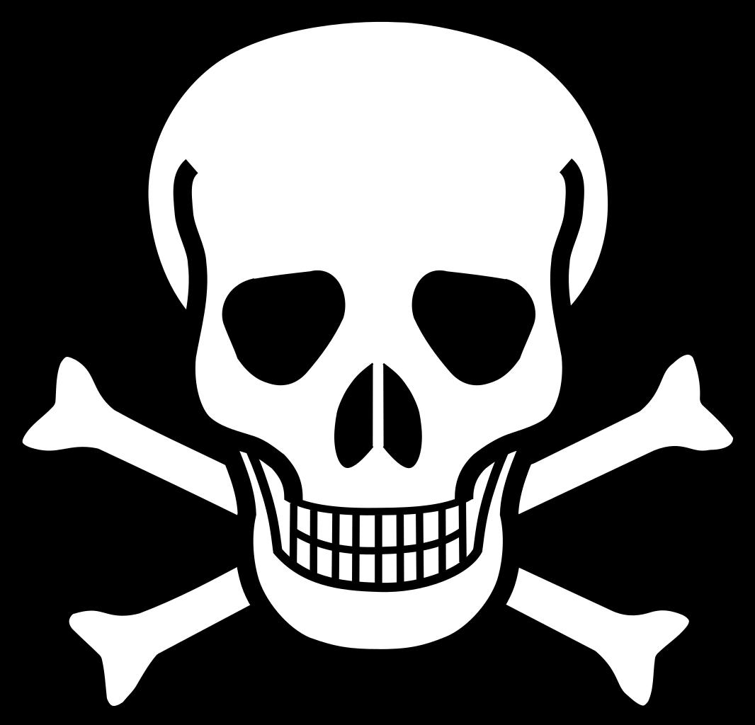 File skull crossbones svg. Nemo clipart black and white