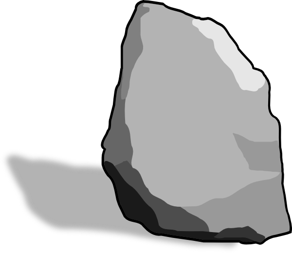 Clipart rock small rock. Clip art at clker