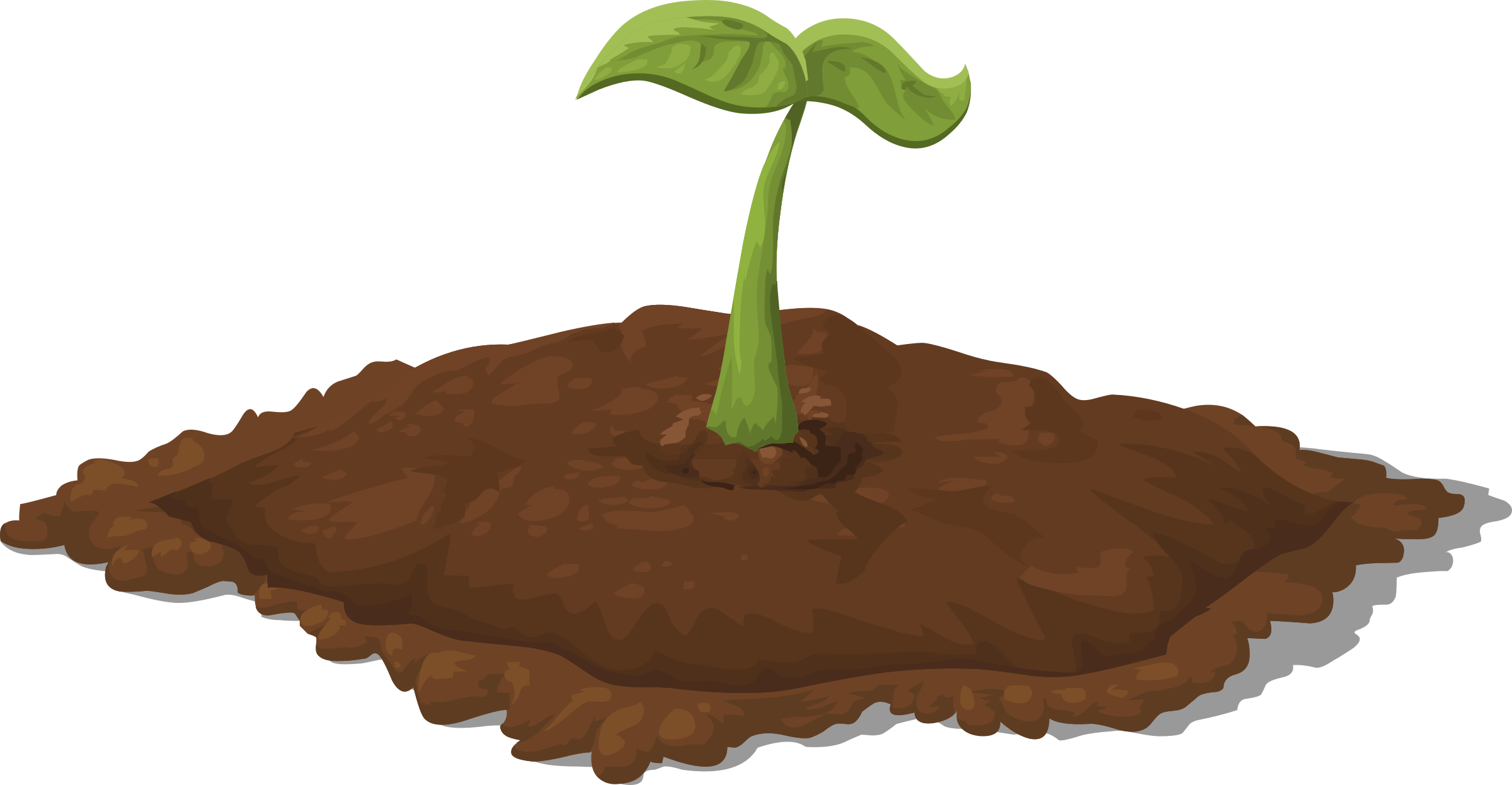 Harvestable resources patch seedling. Dirt clipart dirt pile