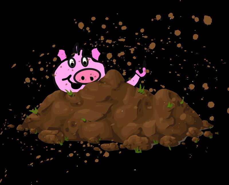 Pig sty medium image. Dirt clipart brown rock