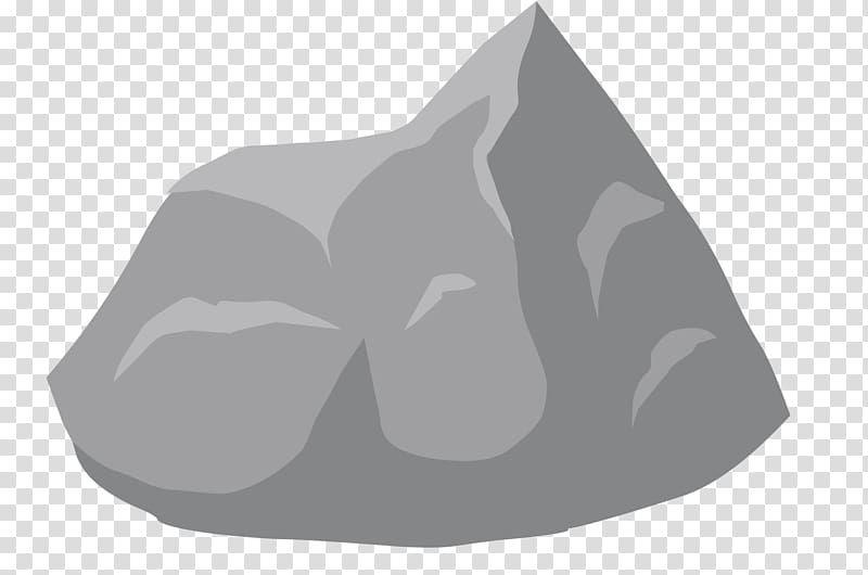 Clipart rock stone. Gray transparent background png