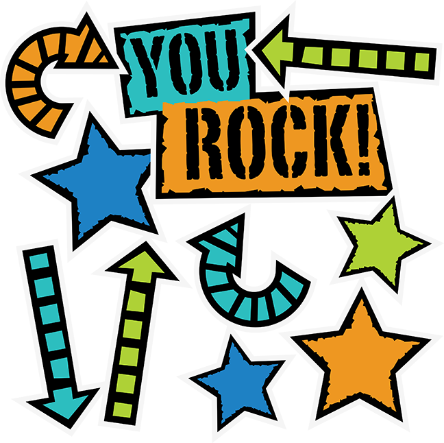 You rock scrapbook collection. Teen clipart svg