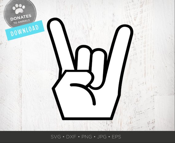 On hand symbol png. Clipart rock svg