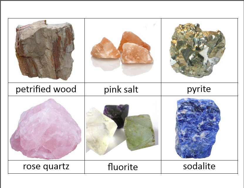 Clipart rock volcanic rock. Montessori classification cards free