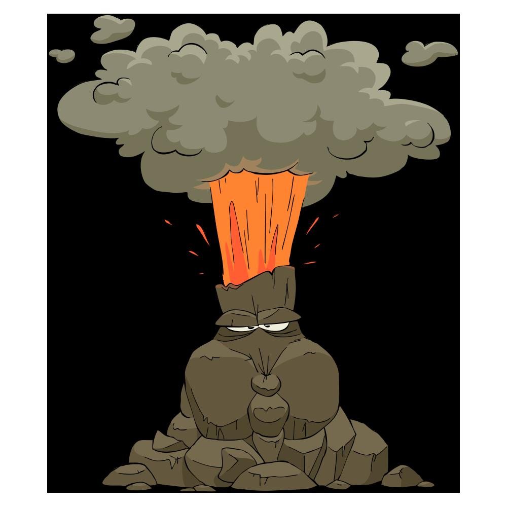 Clipart rock volcano. Eruption at getdrawings com