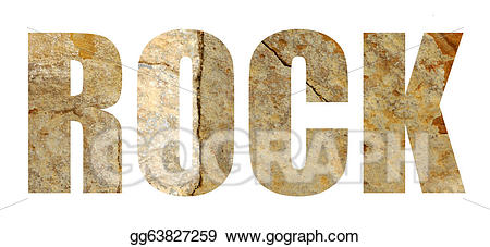 Clipart rock word. Drawing the in stone