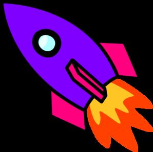 Purple . Clipart rocket