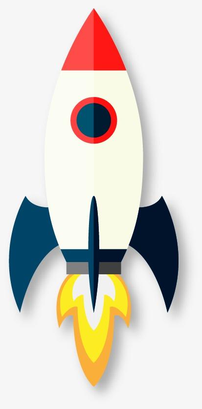Cartoon sketch png image. Clipart rocket