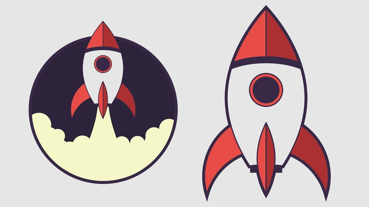 Clipart rocket adobe illustrator. How to draw a