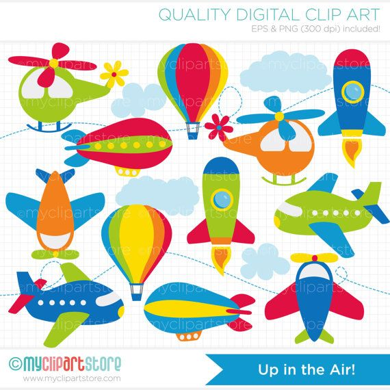 Airplanes up in the. Clipart rocket air transport