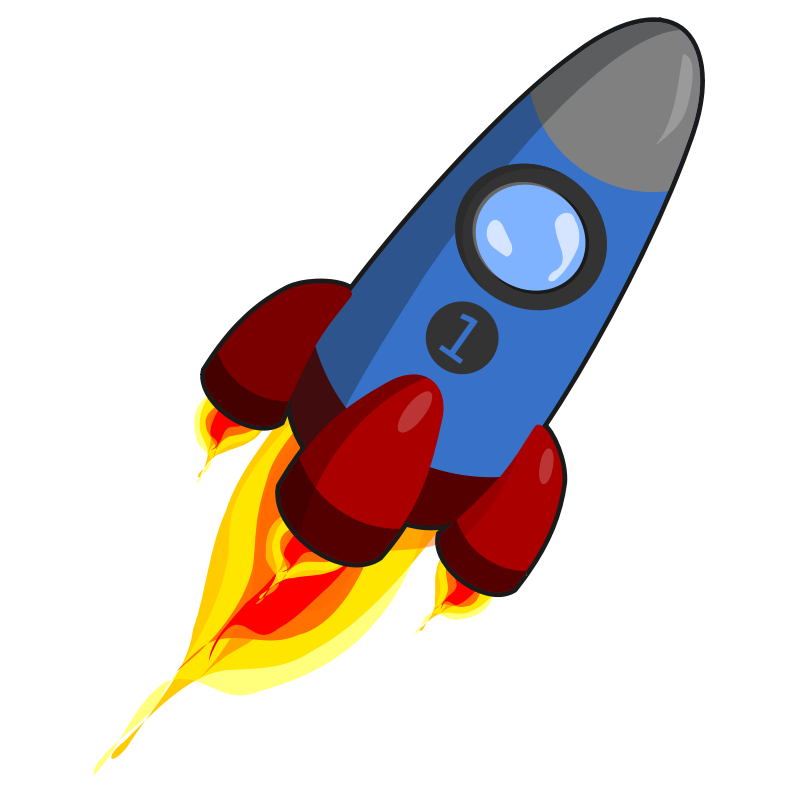 Clipart rocket air transport. Blue and red clip
