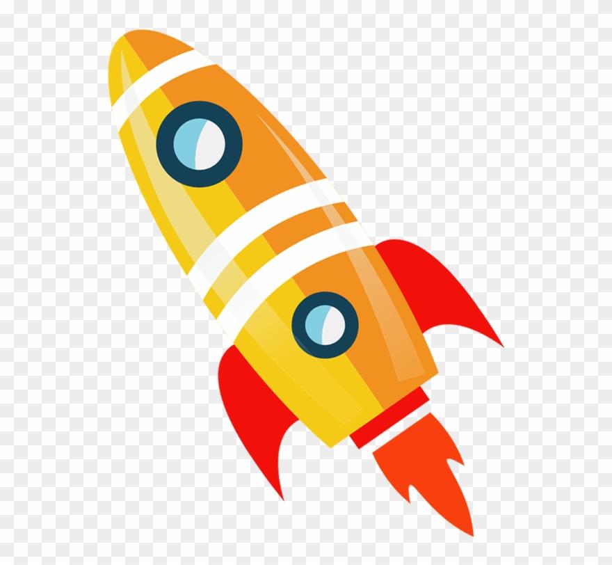 Clipart rocket animation. Flight launch transprent png