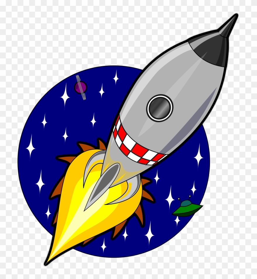 Spacecraft cartoon outer space. Clipart rocket animation