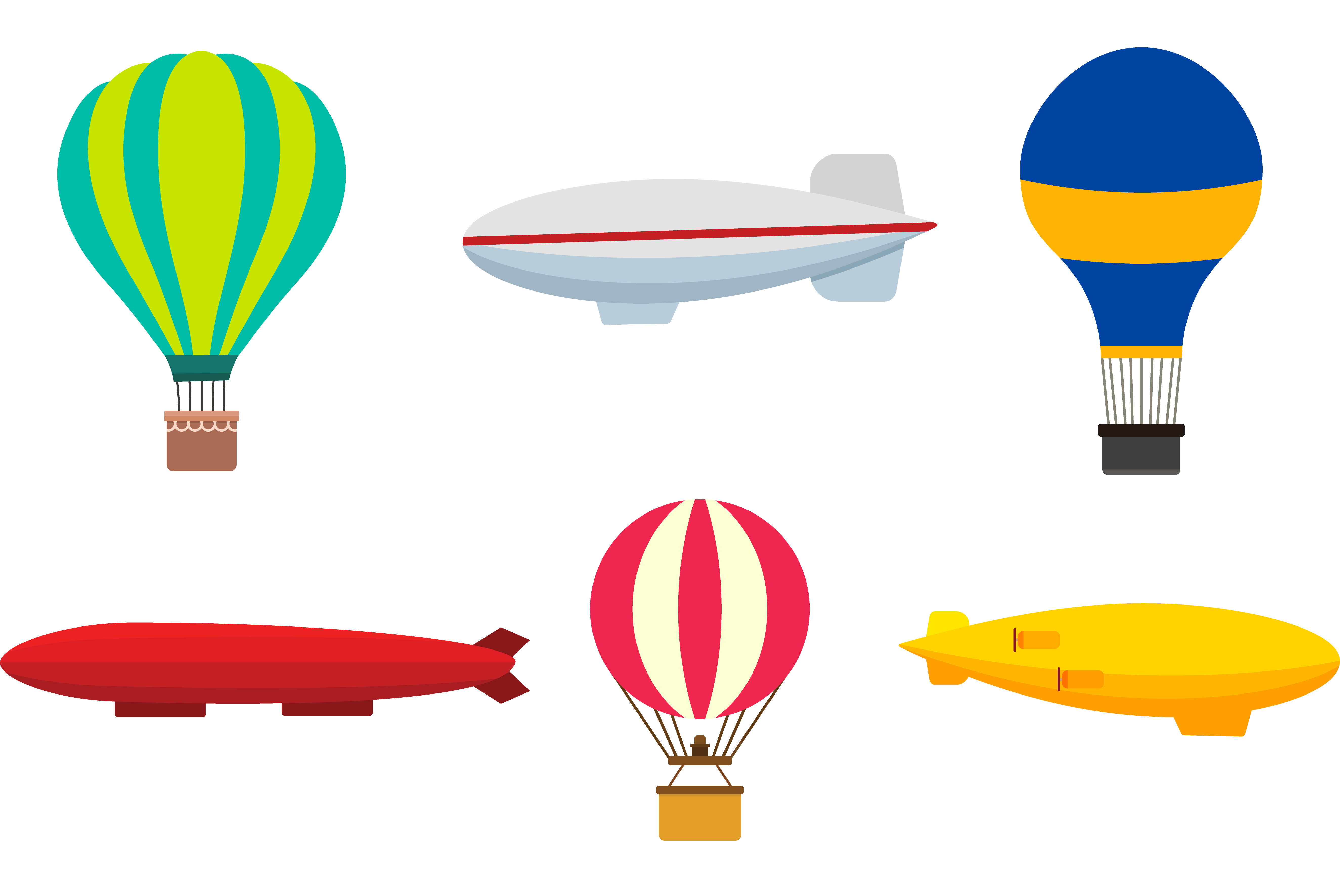 Set transprent png free. Clipart rocket balloon