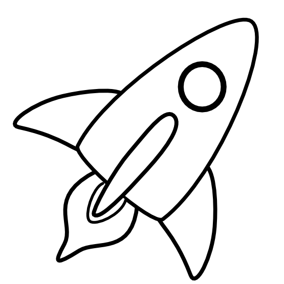Clipart rocket black and white.  collection of free