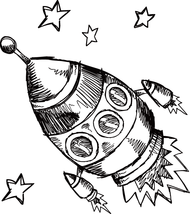 Clipart rocket black and white. Visual arts drawing clip