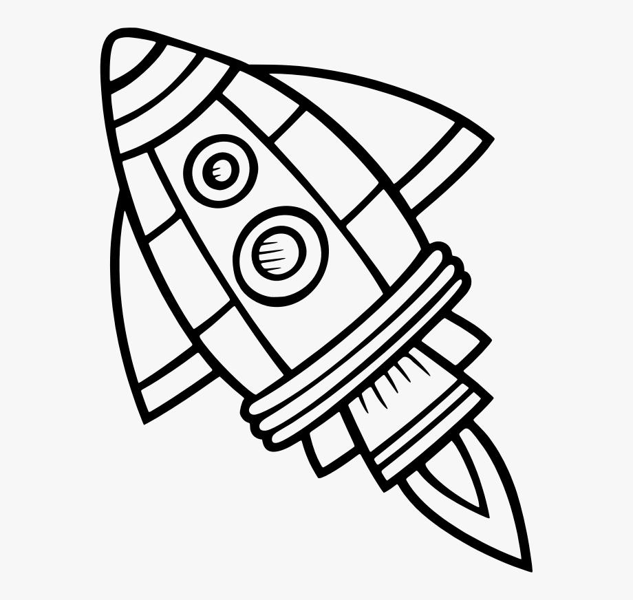 Spaceship clipart outline, Spaceship outline Transparent ...