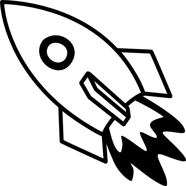 Ship clip art at. Clipart rocket black and white