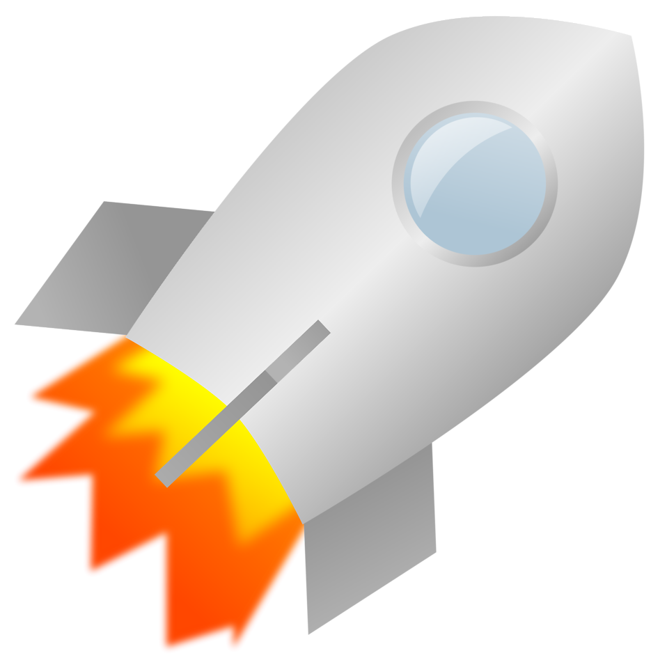Free stock photo illustration. Clipart rocket blast off