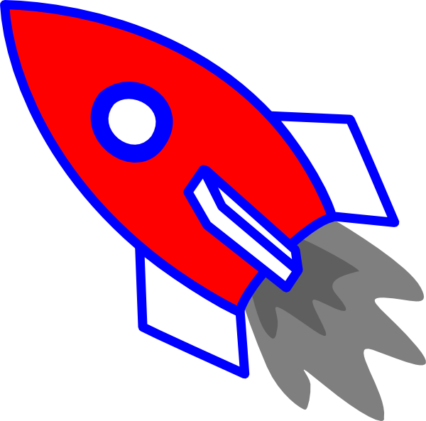 Clipart rocket blue. Clip art at clker