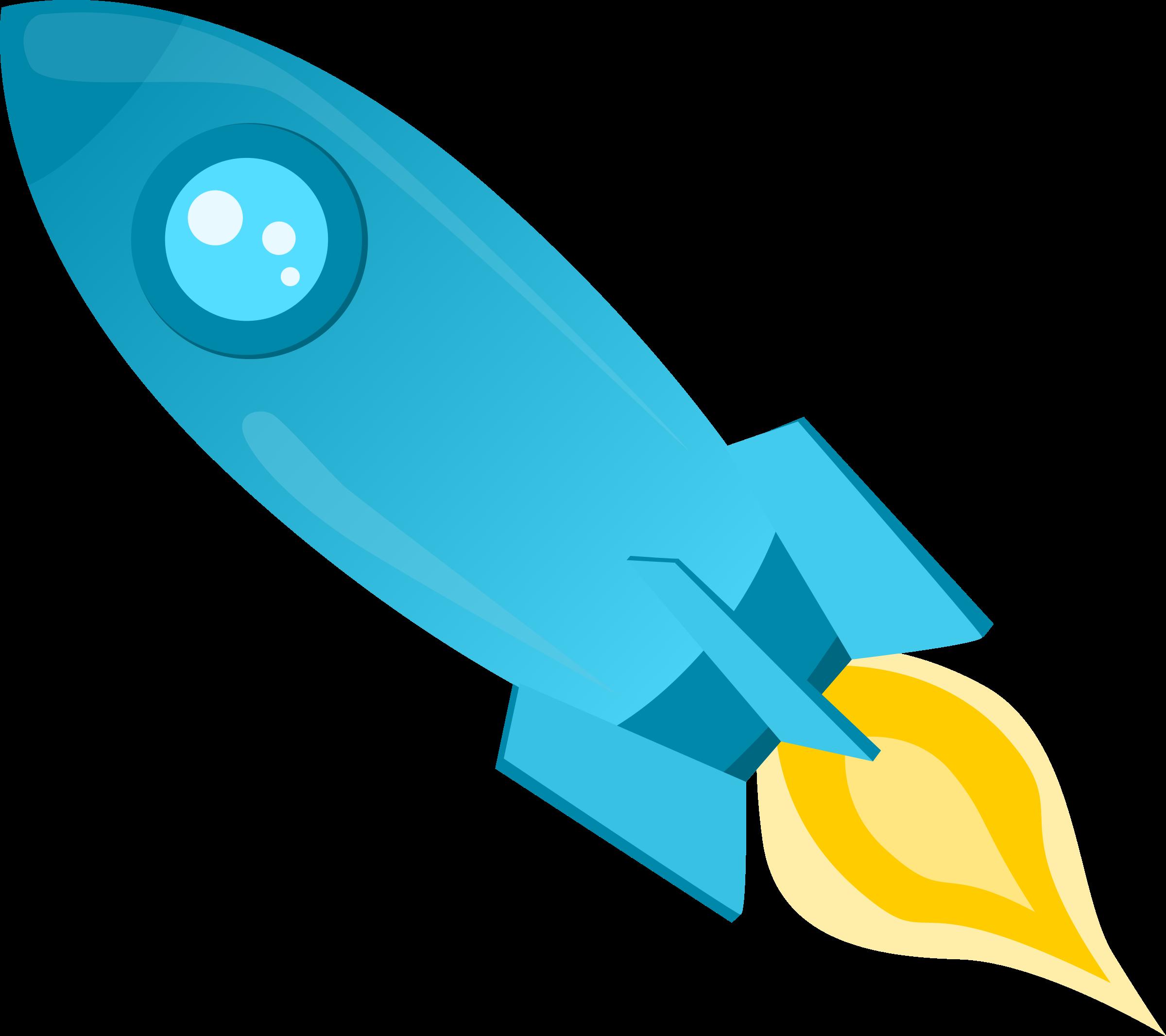Big image png. Clipart rocket blue